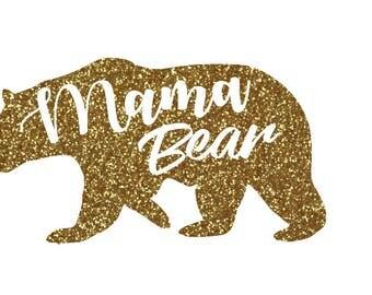 Mama Bear Iron On - Shirts, Bags, Etc.