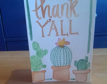Thank Y'all Cacti Greeting Card