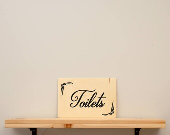 Toilets - vinyl on varnished wood (choose from a range of colours) - Kids decor
