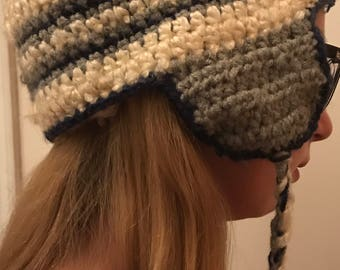 Crocheted Trapper Hat