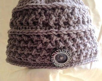 Crocheted Textured Hat