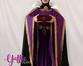 The Evil Queen dress from Snow White Disney villain gown Snow White Halloween Costume adult cosplay clothing medieval gown historical outfit