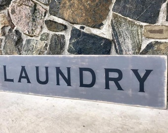 Wood signs/ distressed/ Laundry sign