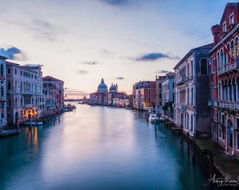 Fine Art Photography Print - Sunrise Over the Grand Canal in Venice, Italy