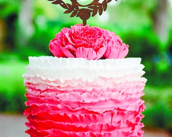Cake Topper Personalized Monogram Wedding Cake Topper wood Rustic Wedding Cake topper letter O Rustic cake topper letter X C V B N M L K A S