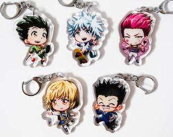 "HunterXHunter, Gon, Killua, Hisoka, Kurapika, Leorio, HxH, Hunter X Hunter - Cute 2"" Acrylic Keychain Charms Double-Sided"