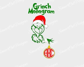 Christmas SALE!!Grinch Monogram Svg,Grinch T-Shirt Svg,Grinch Holding Ornament Svg,Grinch Christmas Decal,Grinch Kids T-Shirt Decal