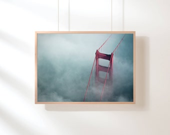 Golden Gate Bridge, San Francisco Print, Digital Download, San Francisco Photography, Minimalist Decor, Printable Art, Bridge Photography