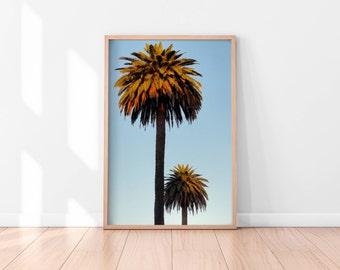 Palm Trees Printable, Tropical Wall Art, Palm Trees Art Print, California Print, Landscape Photography, Nature Art, Large Pastel Art Print