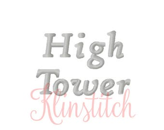50% Sale!! High Tower Embroidery Fonts 4 Sizes Fonts BX Fonts Embroidery Designs PES Fonts Alphabets - Instant Download