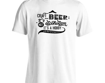 Craft Beer Its Not Alcoholism Black Men's T-Shirt t529m