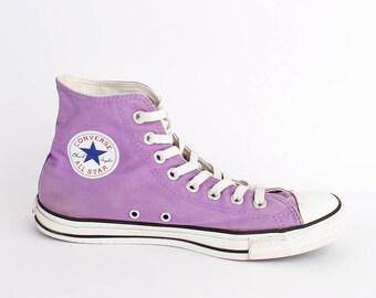 EU 41.5 - lilac purple Converse All Star canvas shoes - hi top Chuckies size uk 8 / US men 8 + womens 10 - chuck taylor allstars sneakers