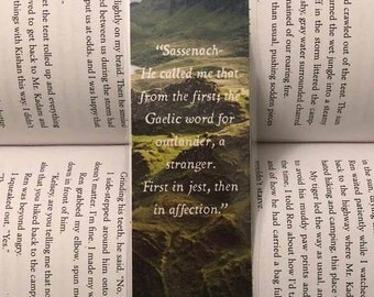 Outlander Bookmark (Sassenach...)