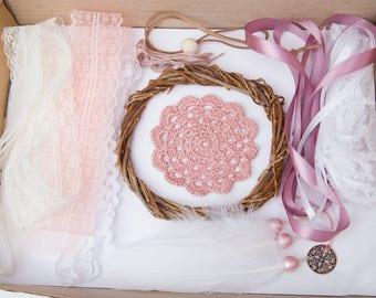bausatz dreamcatcher tun es selbst dream catcher handwerk kinderzimmer dekoration geschenkidee mdchen kinder handwerk set boho - Kinderzimmer Dekoration Handwerk
