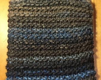 Knitted Hot Water Bottle, Bouillotte et sa housse en tricot