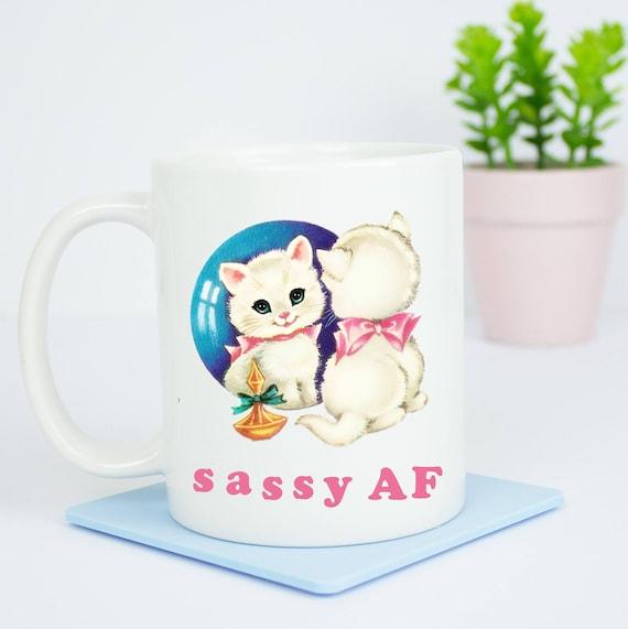 Sassy AF mug, happy coffee mug