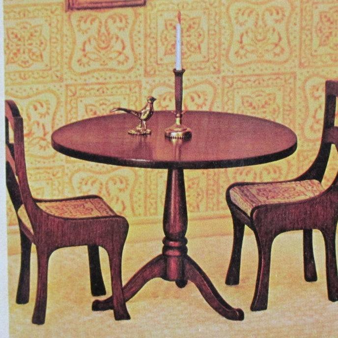 Mini Dining Table Kit DIY Dollhouse Miniature Kit House of ...