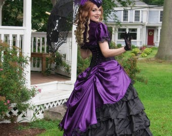 Victorian Gown | Belle of the Ball | Purple Ball Gown, Victorian Gothic Dress, Civil War Dress, Historical Costume, 1800s Dresses, Ballgown