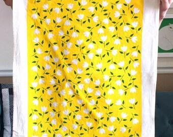 Flowers Dishcloths, Little Flowers Tea Towel, Yellow Flowers Tea Towels, Flowers Dishcloths, Gift For Flower Lovers, Flower Kitchen Towels