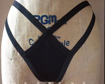 Itty Bitty Burlesque Strappy Cage Panties Open Back Made to Order