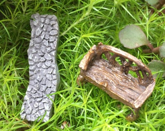 Micro Mini Stone Path, Mini Walkway, Fairy Garden Accessory, Mini Home & Garden Decor, Terrariums, Crafts
