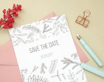 10x Save The Date Cards | Wedding stationery | Custom Save The Dates | Save the dates | Floral Wedding | Green Wedding | Ecofriendly Wedding