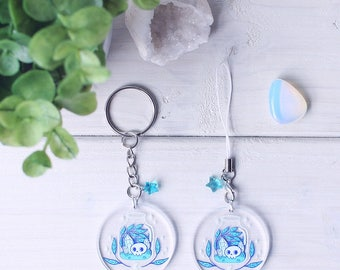 Witchy Terrarium - Double Sided 1.5in Acrylic Charm or Keychain + Sticker