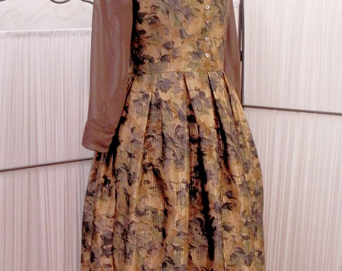 Floral brown - otome dress