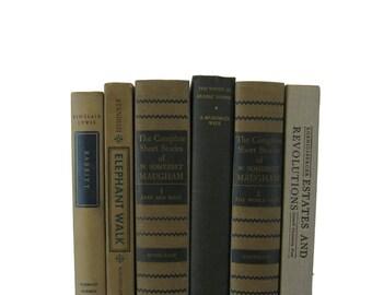 Green  Tan  Decorative Books ,  Vintage Books ,  Home Decor , Old Books , Vintage  Props, Table Setting, Farmhouse Decor, Country Cottage