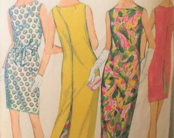 Vintage McCall's 9109 Sewing Pattern, 1960s Dress Pattern, Wrap Around Dress, Reversible Dress, Bust 34 Inches, Vintage Sewing