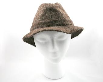 ba2ca78c82874 Vintage 1950s brown wool trilby