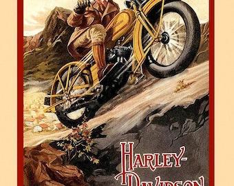 "Harley Davidson Ad Photo Print Color-8 1/2"" X 10 1/2"" Print"