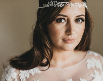 Florrie draped back beaded headband