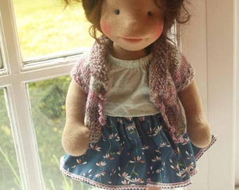 Waldorf inspired doll called April , Summer sale