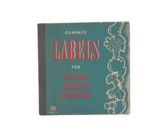 Vintage Canning Labels Booklet for Preserving Pickling by Eureka no.72