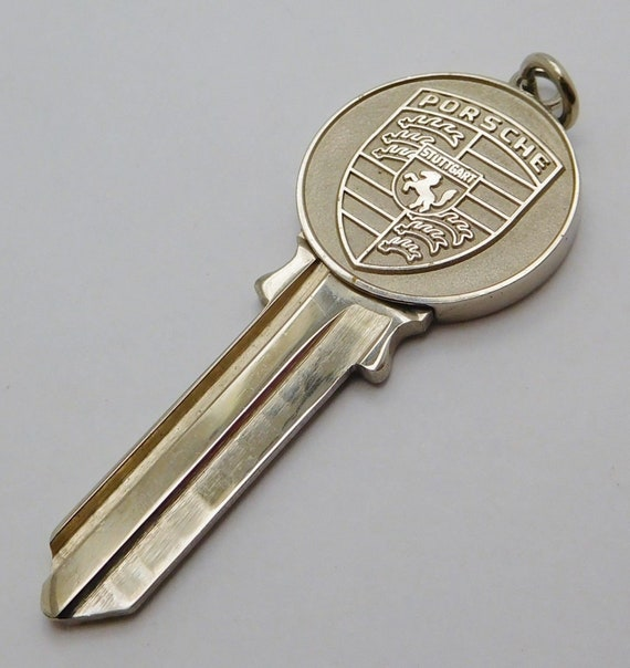 Sterling Silver...Vintage, Porsche Car Key Pendent.. Made by: Richard Avedon...Uncut And Ready To Use !