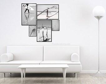Boho wall decor, beach photography, Shabby Chic decor, Surfer decor, surf decor, surf bathroom wall decor, large bathroom wall decor