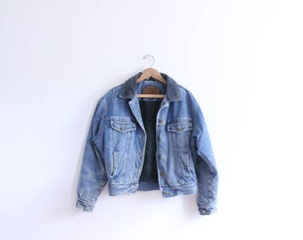 Corduroy Collar 90s Denim Jacket