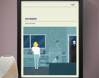 Scream Movie Poster - Movie Poster, Movie Print, Film Poster, Film Poster, Wes Craven