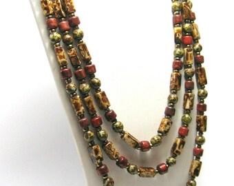 1930s Murano Flapper Necklace - Art Deco - Genuine Venetian Murano Glass - Vintage Necklaces