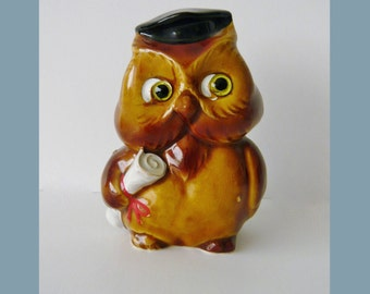 Vintage Lefton Wise Owl Bank H3893R