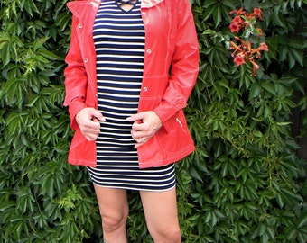 1960s Miss Holly Vintage Red Raincoat