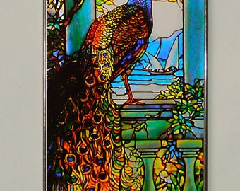 Louis Comfort Tiffany - Peacock II., Stained Glass