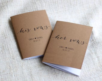 Rustic Vow Books, Rustic Wedding Decor, Wedding Keepsake, Wedding Vows Notebook, Set of 2 Books