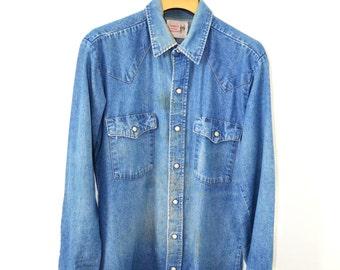 Women's Vintage Denim Shirt
