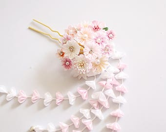 wedding hair flower fork-bridal hair flower