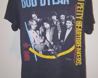 Vintage Original 1986 Bob Dylan and Tom Petty True Confessions Tour Shirt