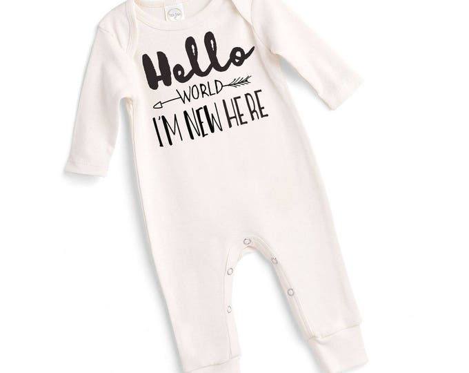 Newborn Baby Coming Home Outfit, Neutral Baby Clothes, Baby Unisex Coming Home Outfit Baby Girl Romper, Baby Boy Romper Tesababe