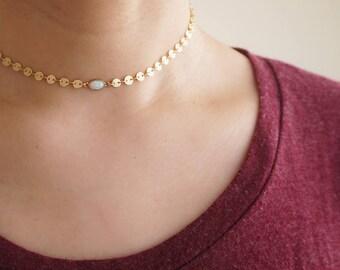 Gold Chain Choker, Gold Choker Necklace, Gold Coin Choker, Gemstone Choker, Gold Disc Choker, Gold Geometric Choker, Statement Choker