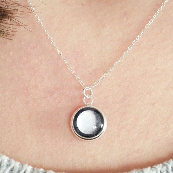 Tiny Custom Moon Phase Necklace
